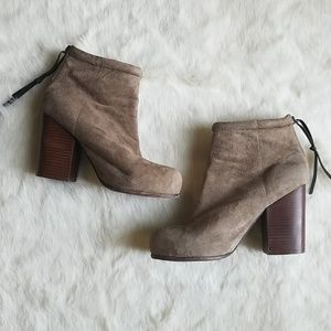 Jeffrey Campbell Rumble Suede Stacked Boot | 10